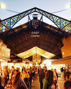 Mercat de la Boqueria #Barcelona.  http://blog.favoroute.com/visit-the-best-street-markets-in-the-world/