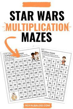 What better way to practice math skills for Star Wars fans than to learn with these FREE multiplication mazes with Star Wars theme? Math Multiplication, Math Math, Math Games, Homeschool Math, Homeschooling, Letter Sound Games, Third Grade Math, Fourth Grade, Star Wars Classroom