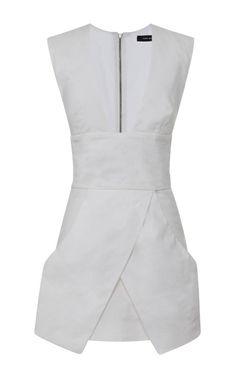 Chic Linen Stuff Imba Dress In White by Isabel Marant for Preorder on Moda Operandi