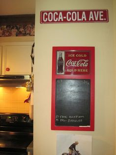 I could make this with a vintage Coke sign (perhaps from Mast General?).