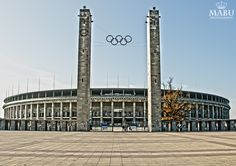 The Olympiastadion, Olympic Stadium is a sports stadium in Berlin, Germany. There have been two stadia on the site: one that was called the Deutsches Stadion, which was built for the aborted 1916 Summer Olympics, and the present-day facility. It is the second biggest stadium in Germany behind Signal Iduna Park and has been the home stadium of the Hertha Berlin football team since 1963. (Photo: Copyright @ MaBu Photography)