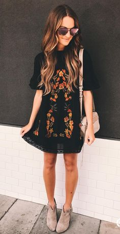 embroidered minidress