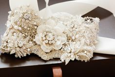 Ivory bridal belts and sashes - Style S32 from MillieIcaro