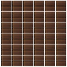 Interceramic�Glassique Fudge Glass Mosaic Square Indoor/Outdoor Wall Tile (Common: 12-in x 12-in; Actual: 11.81-in x 11.81-in)