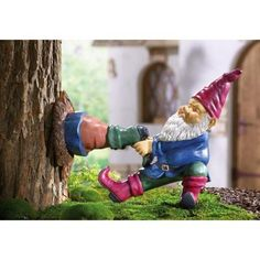 Gnome Stuck in a Tree! Help!! A must have for gnome fans! Photons gifts!