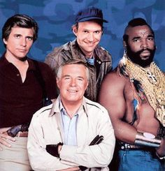 The A-Team was a show about a team of crimefighters. Everyone had their own special way of fighting crime. The show is comical and action packed. I loved this show when I was young because of Mr. 80 Tv Shows, Old Shows, Best Tv Shows, Favorite Tv Shows, Movies And Series, Movies And Tv Shows, The Ateam, Sean Leonard, Mejores Series Tv