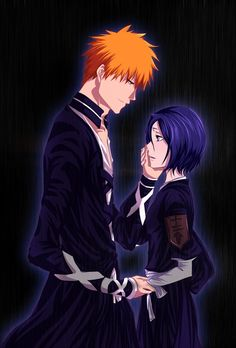 ichigo x rukia they make even the darkest of backgrounds, look like the brightest of backgrounds *^*