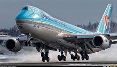 Korean Air Cargo B747-8F  (HL7609) at Anchorage ~ photo by Angelo Bufalino