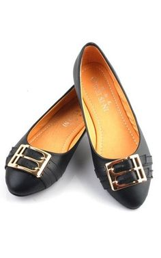 Chic and sophisticated flats are everyday needs! especially those days where you are having a bad day with heels! This black pair is so nice and costs only USD$22.09!