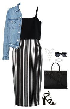 """""""#2888"""" by azaliyan ❤ liked on Polyvore featuring New Look, Chicwish, Dune, Yves Saint Laurent, Michael Kors and Le Specs"""