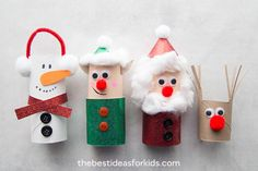 If you're looking for easy Christmas crafts for kids then you'll love these Christmas toilet paper roll crafts. Kids love to create crafts with toilet paper rolls. The best part is that toilet paper rolls Kids Crafts, Christmas Crafts For Toddlers, Diy Christmas Decorations Easy, Christmas Crafts For Kids, Toddler Crafts, Holiday Crafts, Christmas Diy, Crafts Cheap, Wood Crafts