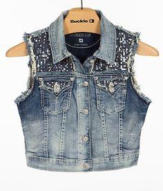 """Miss Me Denim Vest"" www.buckle.com"