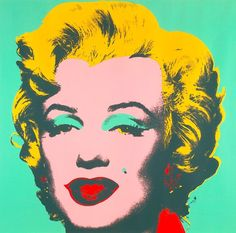 Pop-art was a major form of art in the 1960s. Pop-art used bright colors and contrasts to make the objects in the paintings seem to jump from the pictures. This painting of Marilyn Monroe, done in 1967, was part of artist Andy Warhol's Marilyn Monroe collection of paintings.