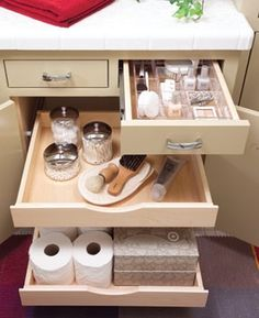 Pull-out drawers...I have these work great! Love,love,love!