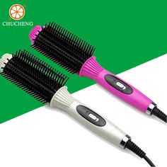 2-in-1 Comb Electric Hair Straightener/Ripple Curling Professional Anti-scald Ceramic Dry&Wet Hair Curler Combs hair Flat Irons