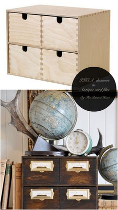 10 Totally Ingenious, Ridiculously Stylish IKEA Hacks // Live Simply by Annie- I have been looking for a vintage card catalogue for years. Now I can make my own!