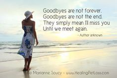 Saying goodbye... http://healingpetloss.com/pet-loss-saying-goodbye-to-your-pet/ #petloss