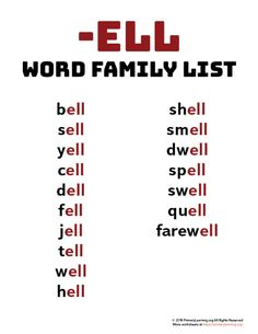You searched for Word family list | Page 3 of 7 | PrimaryLearning.org Learning English For Kids, English Lessons For Kids, English Language Learning, Learn English Words, French Language, Phonics Lesson Plans, Phonics Lessons, Phonics Words, Phonics Flashcards