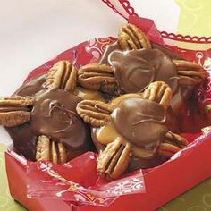 My little Christmas goodie secrets:) My favorite!  Pecan Candy Clusters