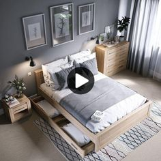 cozy grey and white bedroom ideas; bedroom ideas for small rooms; bedroom decor … cozy grey and white bedroom ideas; bedroom ideas for small rooms; bedroom decor on a budget; bedroom decor ideas color schemes Pin: 564 x 564 Budget Bedroom, Small Room Bedroom, Home Decor Bedroom, Trendy Bedroom, Bedroom Simple, Bedroom Décor, Gray Bedroom Furniture, Apartment Furniture, Light Gray Bedroom
