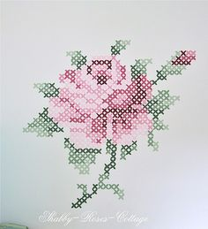Painted cros stitch roses | Flickr - Photo Sharing!