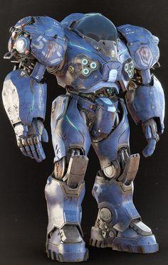 ArtStation - Umojan Guard , by Alessandro Manzani Sci Fi Armor, Sci Fi Weapons, Arte Robot, Robot Art, Robot Concept Art, Armor Concept, Rpg Cyberpunk, Armadura Cosplay, Mekka