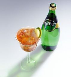Julia Child's Other Favorite Cocktail Recipe: The Angosoda | Perrier, angostura bitter and lime slice