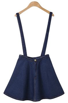 denim skirt with removable suspenders