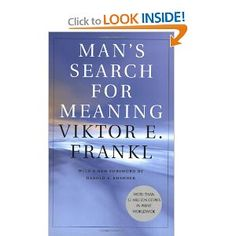 One of the 5 most important books of the 20th century, and it has the power to change your life. Fankl's logotherapy was the most important breakthroughs in psychology and is perfectly relevant today. It helps to bring meaning to all aspects of our lives and even to organizations. Purpose is central to our lives and Frankl gives a path of discernment and application. Short quick read, life changing.