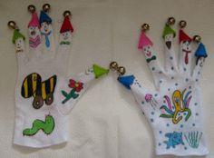 Handschuhe für Fingerspiele basten