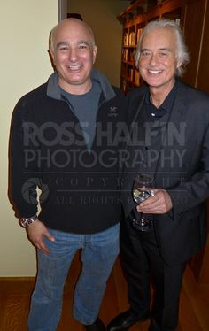 Jimmy Page flew in to New York a few nights ago to celebrate his manager Peter Mensch (seen here on the left) turning 60.