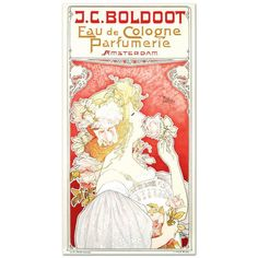 """""""J C Boldoot"""" Hand Pulled Lithograph by The re Society by Privat Livemont 