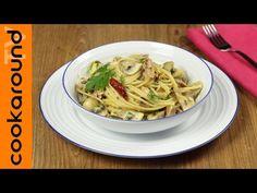Spaghetti tonno e funghi / Ricetta primi piatti - YouTube