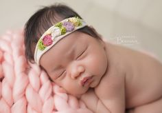 A personal favorite from my Etsy shop https://www.etsy.com/listing/479726205/all-grown-over-newborn-headband-newborn