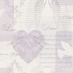 Cherub Angels Heather Mica Metallic Detail Wallpaper | Departments | DIY at B&Q