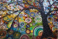 Купить Картина на стекле Дерево (витражная картина) - картина на стекле, Картина ручной работы, картина