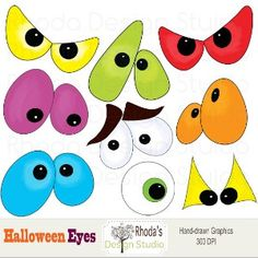 Image detail for -Halloween Clip Art eyes digital images (9 graphics) spooky... | Shop ...