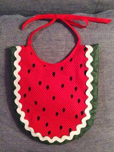 Watermelon Bib by cplusddesigns on Etsy, $8.50
