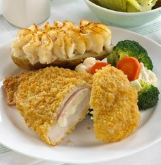 CHICKEN SWISS MELTS. Breaded seasoned chicken breast cutlettes filled with a slice of smoked turkey breast and processed Swiss cheese. 6 portions. #mmmeatshops