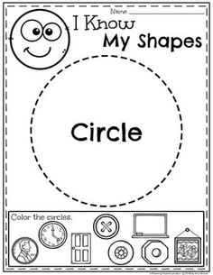 Kindergarten shapes worksheets will make your child a shapes expert. Help your kindergartener become a star with these shapes worksheets. Preschool Learning Activities, Preschool Printables, Preschool Worksheets, Kindergarten Math, Preschool Activities, Circle Crafts Preschool, Science Crafts, Children Activities, Shapes Worksheet Kindergarten