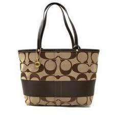 Coach Signature Stripe Tote Bag~~own it and love it :-)