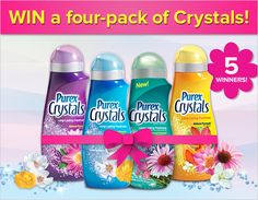 Win a 4-Pack of Purex Crystals #giveaway #purex #laundry