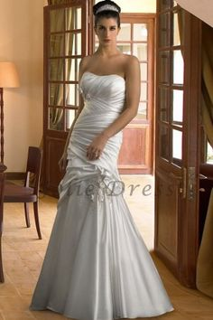 Gorgeous Taffeta Ruffled Mermaid Wedding Dress