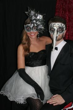 Masked Couple  Masquerade Photo Booth