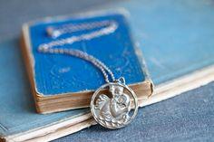 St Saint Christopher Vintage Pendant Medal on Chain Necklace - Icon Christopher Cross, Saint Christopher, Saints, Pendant Necklace, Jewellery, Chain, Silver, Vintage, Schmuck