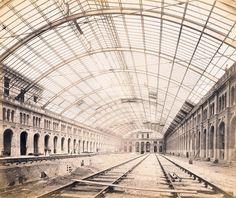 1870 Berlin, Potsdamer Bahnhof, 3 Ansicht des Rohbaus, F. Berlin, Potsdamer Platz, Louvre, Wwii, Building, History, Architecture, Travel, Arquitetura
