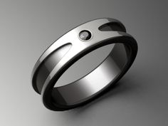 All-Black Engagement Rings men | ... Return, Exchange and Sizing your Black Titanium Ring - Please Read