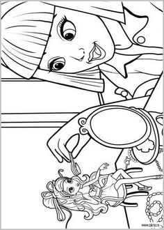 Free Coloring Sheets Of Barbie Thumbelina Printable Picture 5