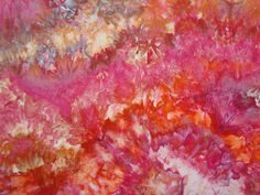 Hand Dyed, Ice Dyed Fabric, Fiery Flora, Fat Quarter (MH) #237 on Etsy, $6.74 CAD