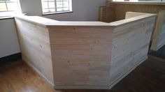 Plywood Bar Counter with Pallet Cladding